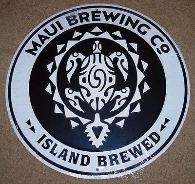 MAUI BREWING CO Hawaii coconut porter Logo METAL TACKER SIGN craft beer brewery