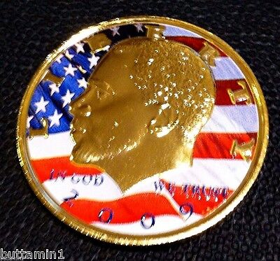 Barack Obama Commemorative 24 Kt Gold Plate Coin High Quality President Souvenir