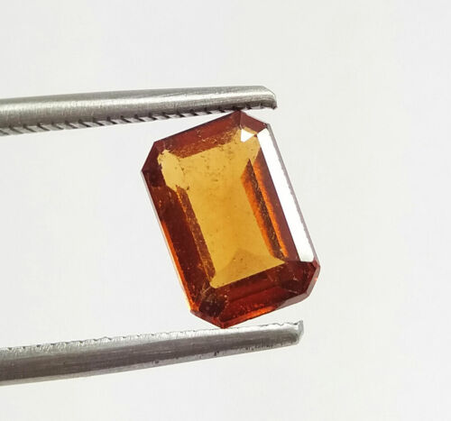 2.26 Ct Natural Amazing Emerald Cut Hessonite Garnet 9x6 MM Unheated Loose Gems