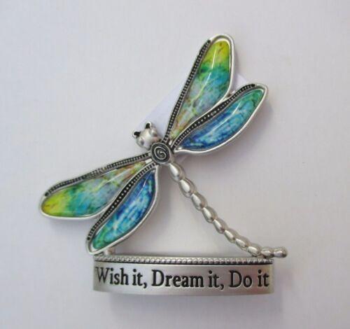 zze Wish it dream it do it Dragonfly BLESSINGS FIGURINE MINIATURE hippie tye dye