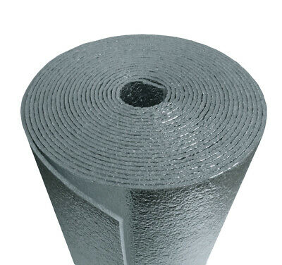Reflective Foam Thermal Foil Insulation Radiant Barrier 4x50 Ft Roll 14 Thick