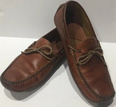 H. S. TRASK MENS LEATHER DRAKE LOAFER SLIP ON SHOES SIZE 9 New
