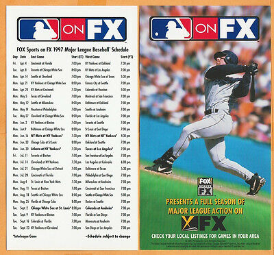 Houston Astros Jeff Bagwell Photo on 1997 Fox Sports Schedule
