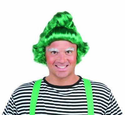 Grün Elfen Herren Erwachsene Weihnachten Willy Wonka Oompa Loompa Kostüm Perücke
