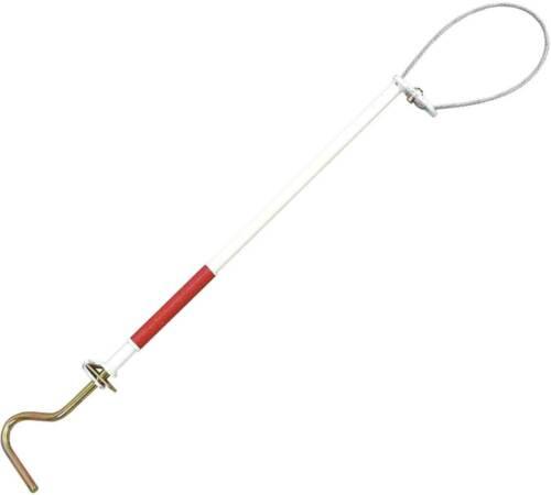 """Decker Pig Holder Hog Catcher Snare 35"""" Rod Quick Release Steel Shaft 1/4"""" Cable"""