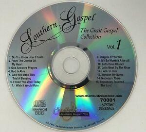 CHARTBUSTER KARAOKE SOUTHERN GOSPEL THE GREAT GOSPEL COLLECTION VOL 1 CD+G 70001