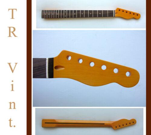 TELE Guitar Neck -Maple/Rosewood & Warmoth Bone Nut Telecaster /Aged Tint