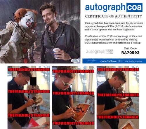 "BILL SKARSGARD signed Autographed ""IT"" 8X10 PHOTO b PROOF - 2 Pennywise ACOA COA"