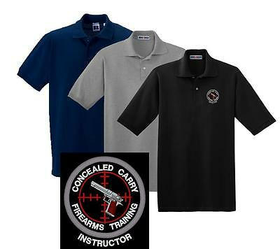 Concealed Carry Firearms Training Instructor Polo Shirt M 5X Police Sheriff