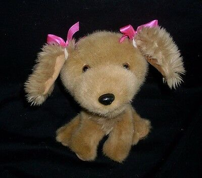 BUILD A BEAR SMALLFRYS BABY BROWN TAN PUPPY DOG STUFFED ANIMAL PLUSH TOY BABW