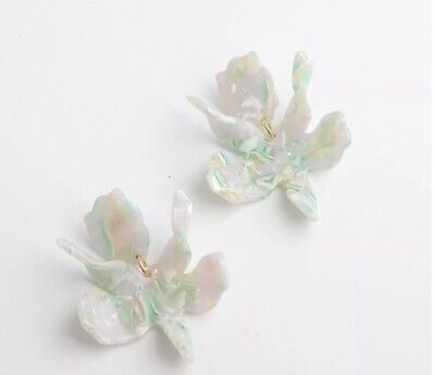 Paper Lily (LELE SADOUGHI AUTHENTIC SMALL PAPER LILY SIGNED PIERCED EARRINGS-NEW! )