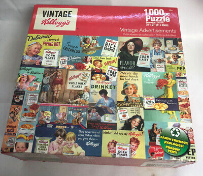 Kellog's vintage Jigsaw puzzle vintage advertisementsKellog's Cereal 1000pc