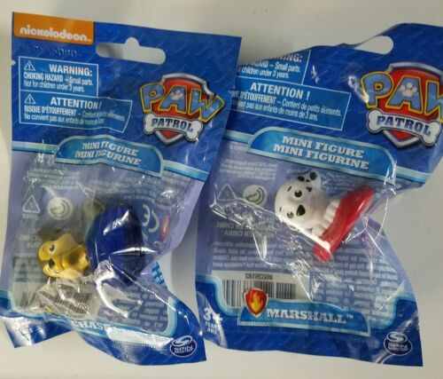 Lot of 2 Nickelodean Paw Patrol Mini Figures Marshall Chase