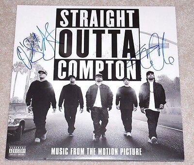 """ICE CUBE O'SHEA JACKSON JR SIGNED """"STRAIGHT OUTTA COMPTON"""" SOUNDTRACK ALBUM COA"""