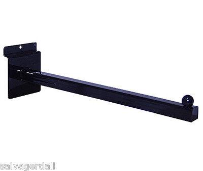Slatwall Slatgrid Panel Face Out Store 12 Display Fixture Black Lot Of 24 New