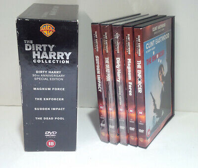 Dirty Harry Collection 2002 Clint Eastwood, Ted Post 5-Disc Box Set Region 2 DVD