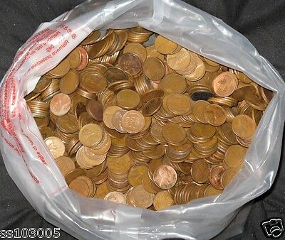 1000 UNSEARCHED LINCOLN WHEAT PENNY CENT LOT
