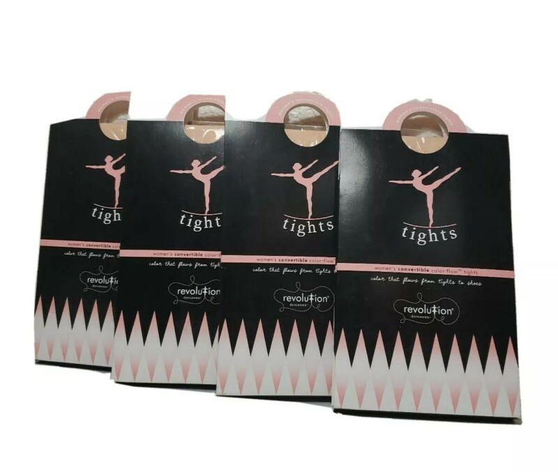 NIP 4 pr Revolution Convertable Dance Tights. Adult Sm. Prima Pink. Style 1054