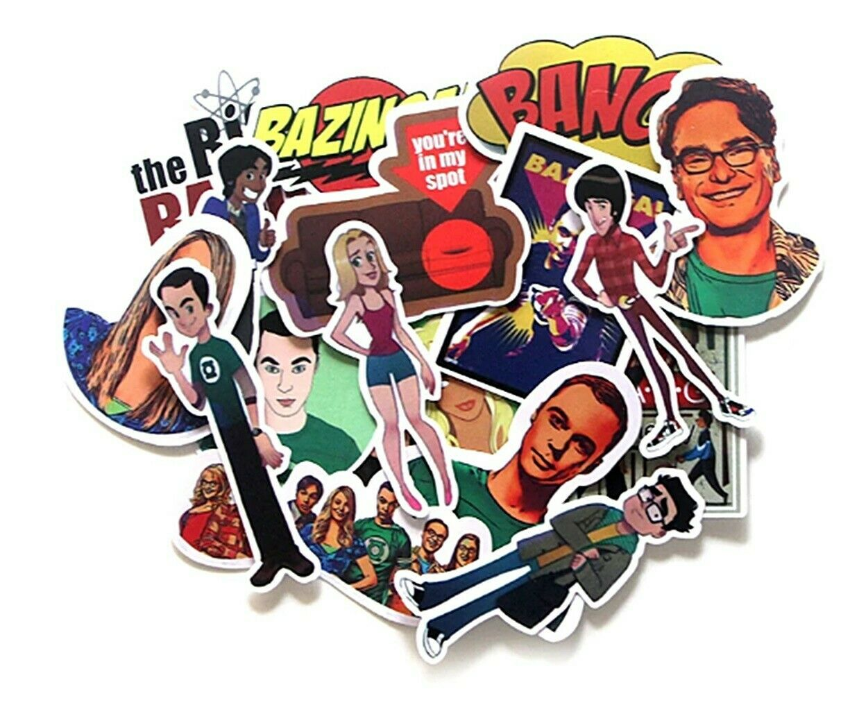 The Big Bang Theory Decal Vinyl Stickers Assorted Lot of 17