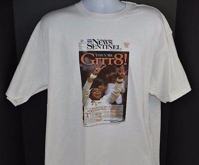 - Tennessee LADY VOLS 2008 NEWS SENTINEL HEADLINE 8th National Champ T-Shirt XL