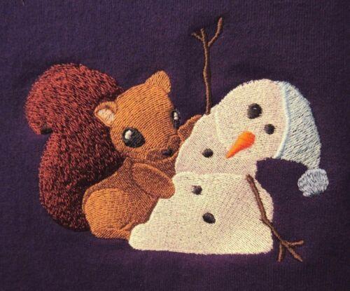 Embroidered Sweatshirt - Sammie Squirrel Making Mischief C4715 Size S - XXL