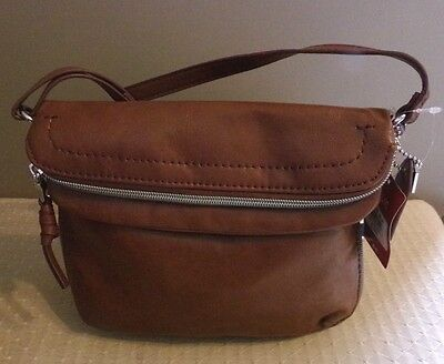 Relic By Fossil Womens Purse Messenger Crossbody Cognac Brown Handbag New