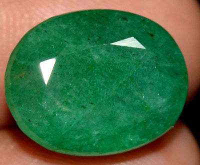 15.6x12.6mm (11.60cts) OVAL-FACET CERTIFIED NATURAL (AGSL) ZAMBIAN EMERALD GEM