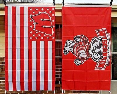 UW Wisconsin University Badgers 3X5 NCAA Sports Flag College (University Wisconsin Badger Sports)