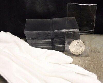 100 2x2 Coin Holders TCDC Submission Flips Non Vinyl + Large Inspection Gloves
