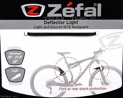 Zefal Deflector Light MTB Bike Front or Rear Mudguard Fender Mud Guard Black