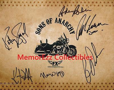 Sons Of Anarchy Ron Perlman   Katey Sagal  4 Signed Autographed 8X10 Color Photo