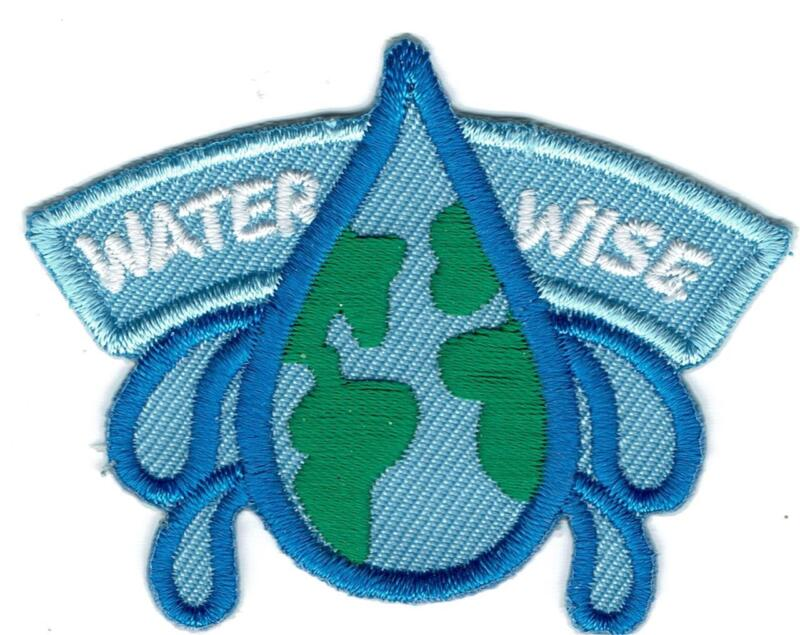 Boy Girl Cub WATER WISE Drop Conservation Fun Patches Crests Badge GUIDE SCOUT