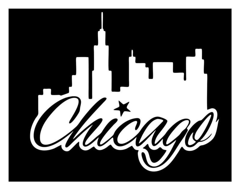 CHICAGO SKYLINE 6X7 CAR TRUCK COMPUTER LAPTOP IPAD ILLINOIS DECAL STICKER