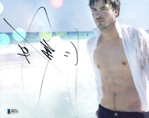 Ian Somerhalder Signed 8x10 Photo The Vampire Diaries Hot Shirtless Beckett COA