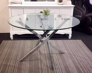【New In Stock】Taylor Crystal Tempered glass Round Dining Table Se Nunawading Whitehorse Area Preview