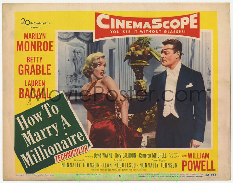 HOW TO MARRY A MILLIONAIRE LOBBY CARD 11x14 Inch L#6 Movie Poster MARILYN MONROE