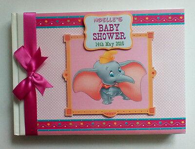 DISNEY DUMBO BOY/GIRL /FIRST/1ST BIRTHDAY/BABY SHOWER GUEST BOOK ANY DESIGN