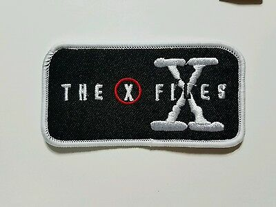 X files Logo embroidered Patch 4 inches Wide