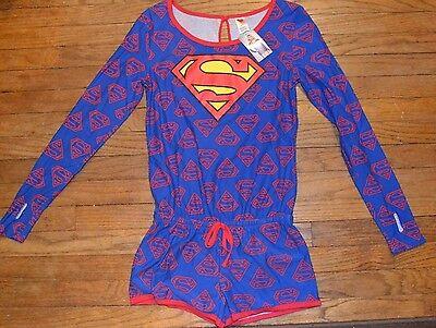 Super Man Outfit (DC COMICS Super Girl Super Man Superman Long Sleeve Romper Outfit Costume)