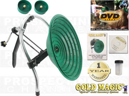 Gold Magic 10M Manual Hand Crank Pan Panning Machine Spiral Wheel + BONUS ITEMS