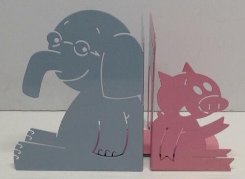 Yottoy Mo Willems Collection   Elephant & Piggie Set of Durable Metal Bookends