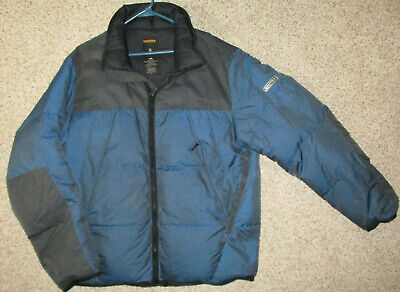 Nautica Competition Down Jacket Puffer Ski Snow XL Blue Waterproof Nylon
