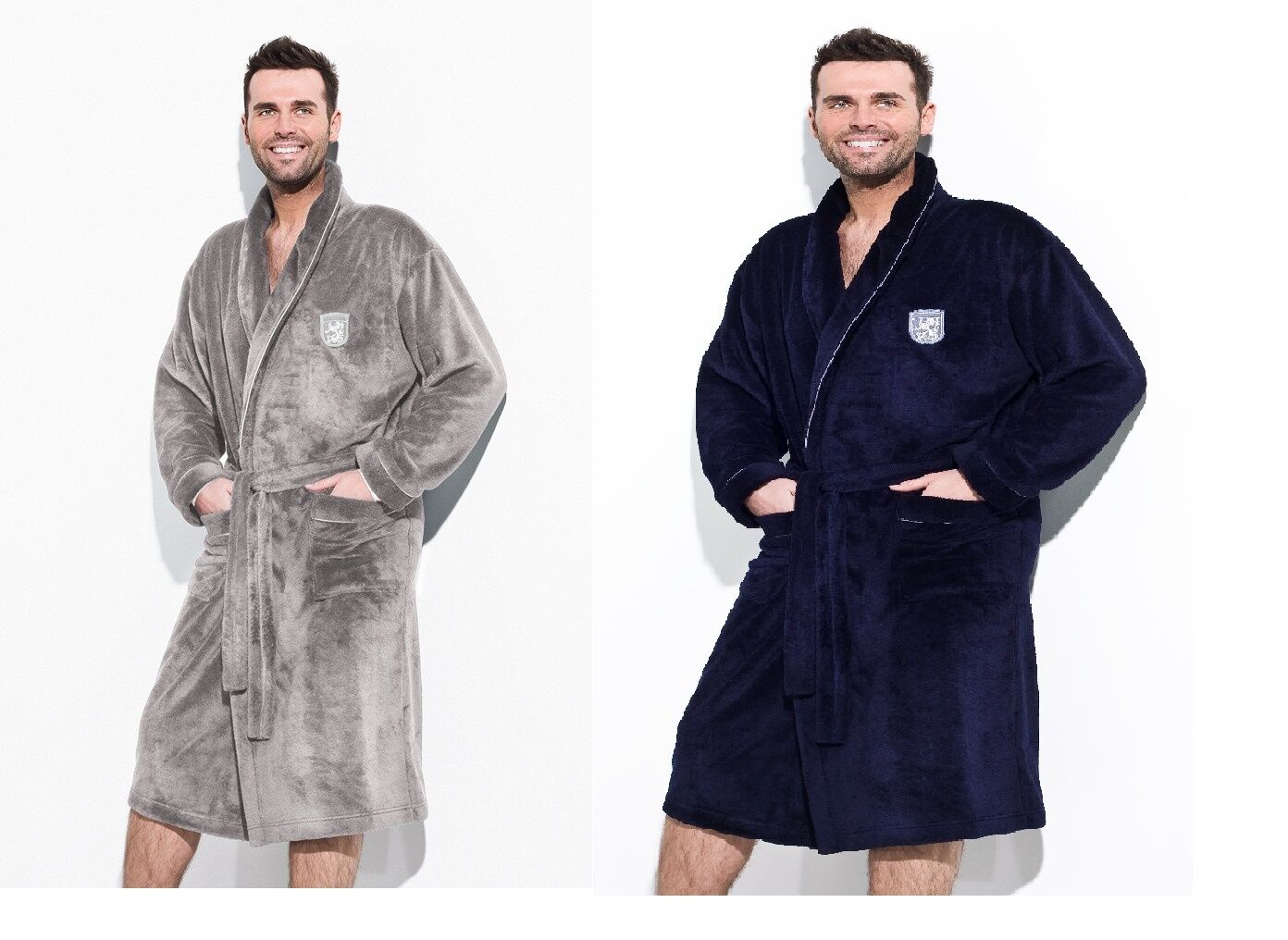 New Men SOFT Bath Robe Housecoat Dressing Gown Bathrobe Size UK M L ...