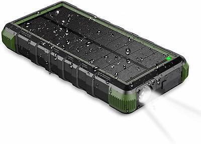 EasyAcc 24000mAh Solar Portable Waterproof Battery Rechargeable QC Power Bank
