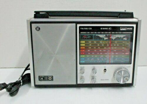 Vintage Montgomery Ward GEN-1473A AM/FM/CB Shortwave 8 Band Airline Radio Works