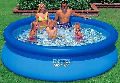 INTEX 8ft Pool Round Inflatable Swimming Easy Set Blue Outdoor Garden Family NEW