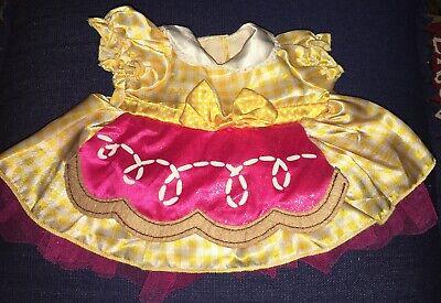 BUILD A BEAR Lalaloopsy Crumbs Sugar Cookie DRESS Yellow Pink CLOTHES - Sugar Bear Costume
