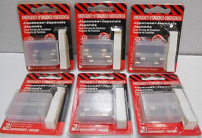 Lot Of 6 Packs Littelfuse Japan Glass Emergency Fuse Kits Agc 5 10 15 20 30