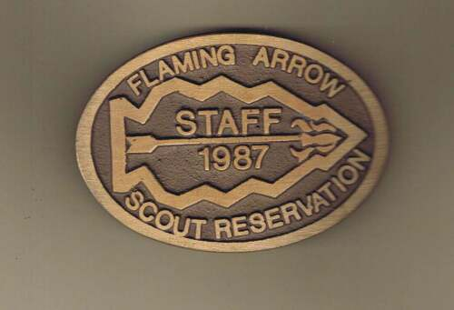 Flaming Arrow Reservation Staff 1987 Belt Buckle Cs