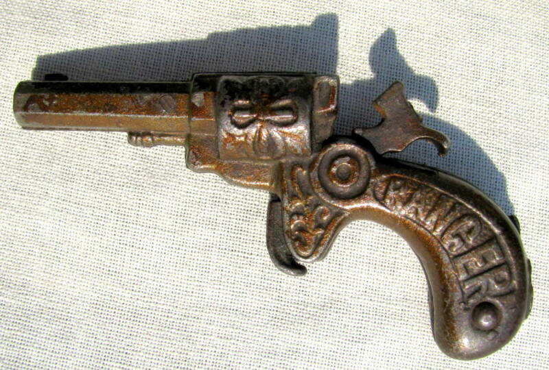"FINE & RARE 4 STAR RATING CAST IRON U.S.A. ""RANGER"" CAP GUN BY IVES CIRCA 1890"